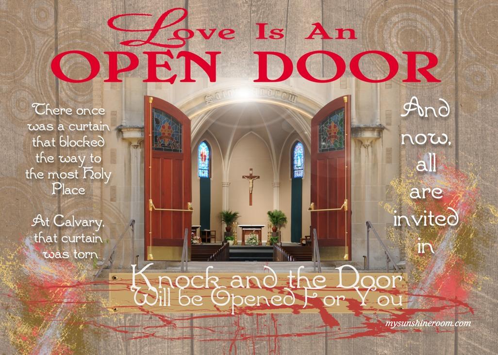 Love Is An Open Door & Love Is An Open Door | My Sunshine RoomAdventures in Health Faith ...
