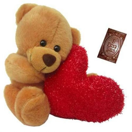 VD15. sweet-and-cute-teddy-bear-with-heart